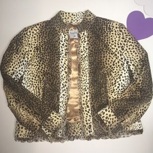 Pamela McCoy Animal Print Lined Blazer Jacket